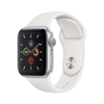 Apple Watch Series 5 40mm GPS aluminium silver color, white sport band