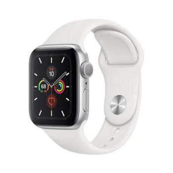 Apple Watch Seria 5 40mm GPS (srebrny kolor, sportowy pasek)