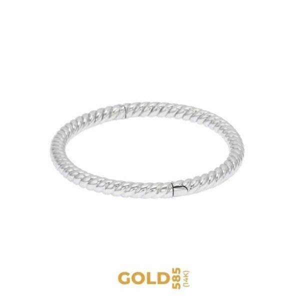 Madama Butterfly 14K white gold bracelet