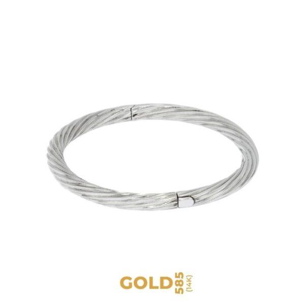 Aida 14K white gold bracelet