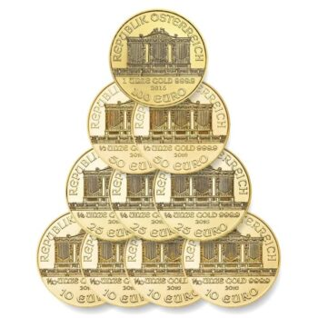DECET – zestaw dziesięciu złotych monet
