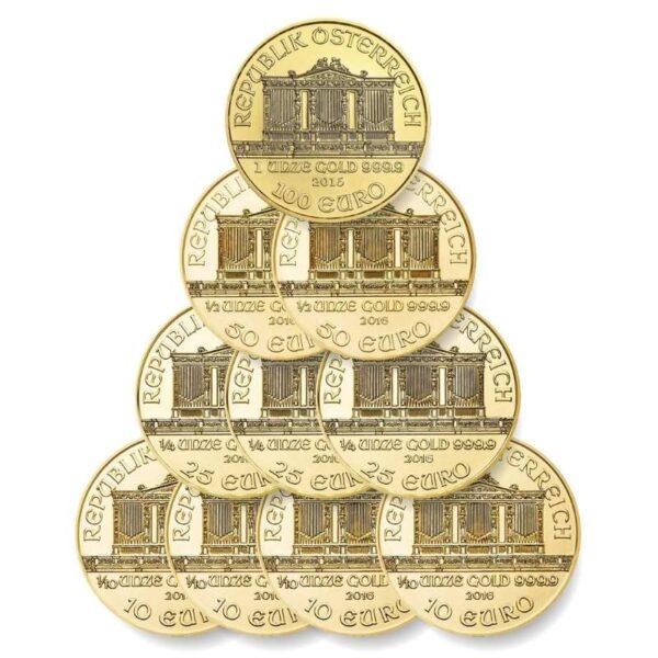 DECET - zestaw dziesięciu złotych monet