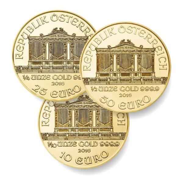 TERCET - zestaw trzech złotych monet