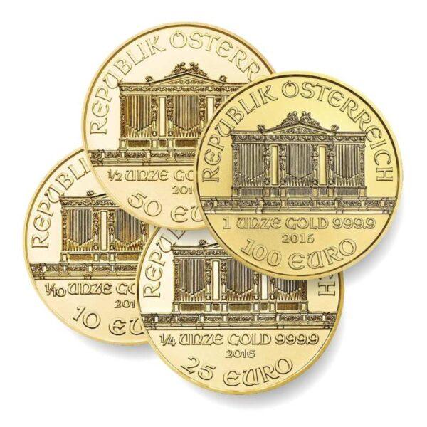 KWARTET - zestaw czterech złotych monet