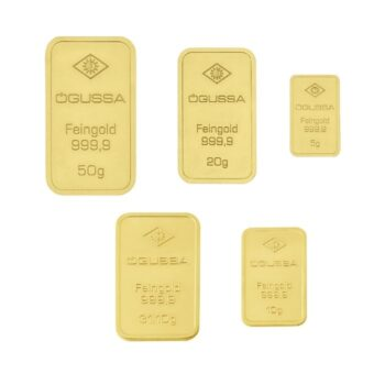 SET GOLD BARS ÖGUSSA