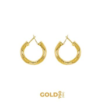 Patientia 18K yellow gold earrings