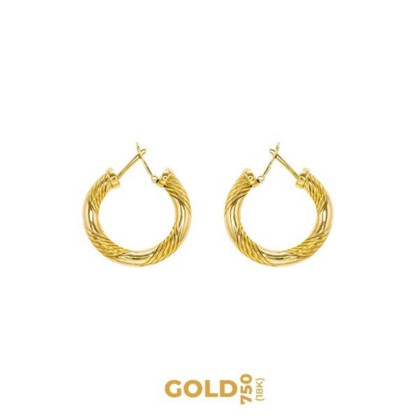 Patientia 18K yellow gold earrings